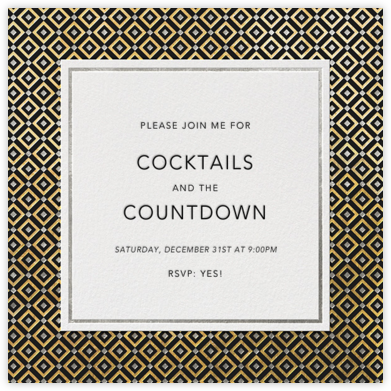Bobo Too - Gold and Silver - Jonathan Adler - New Year's Eve Invitations