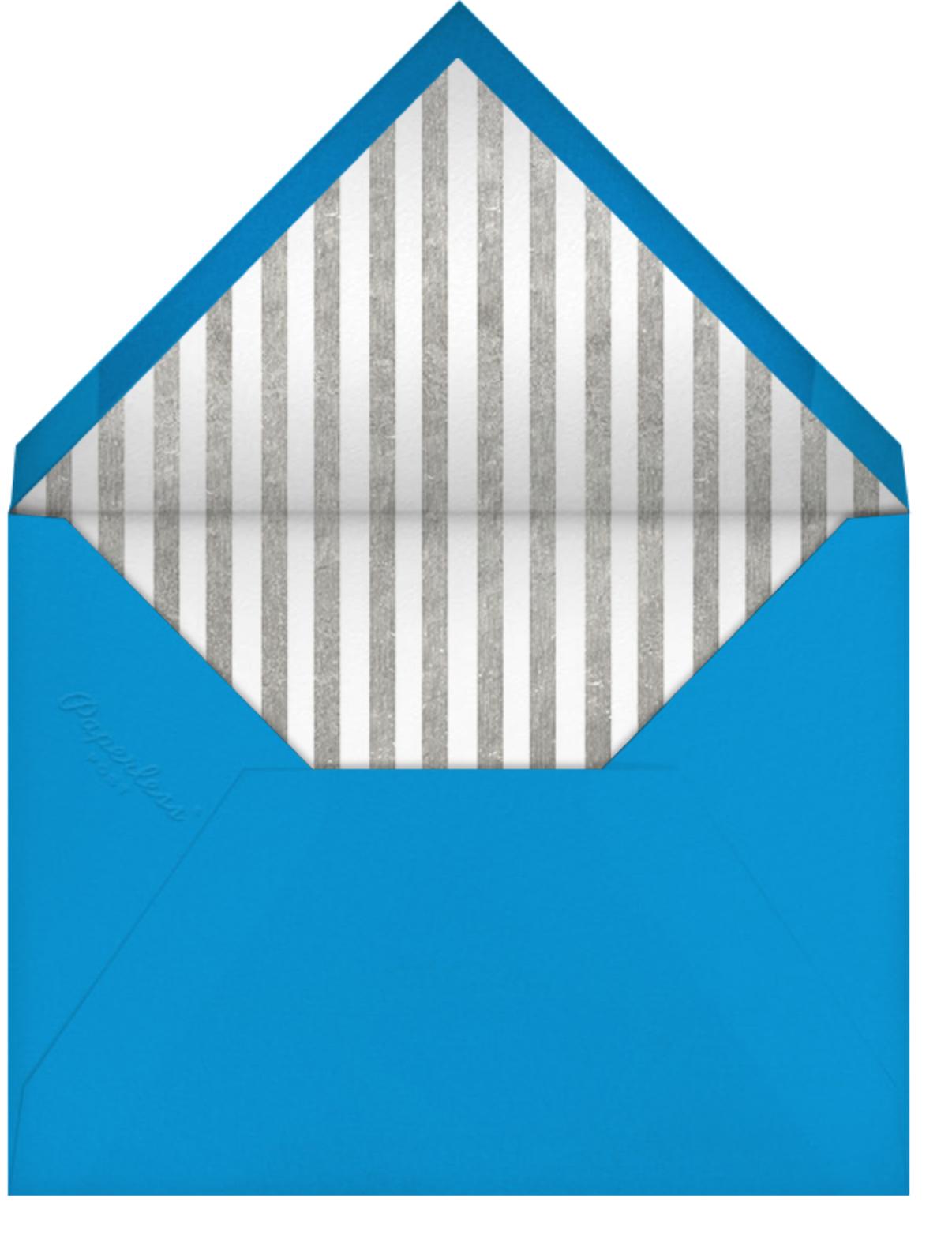 Bobo Too - Blue and Silver - Jonathan Adler - Hanukkah - envelope back