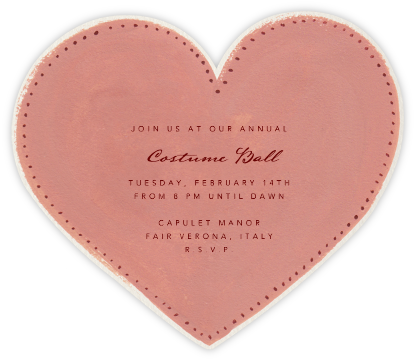 Je t'aime Heart - Paperless Post - Invitations