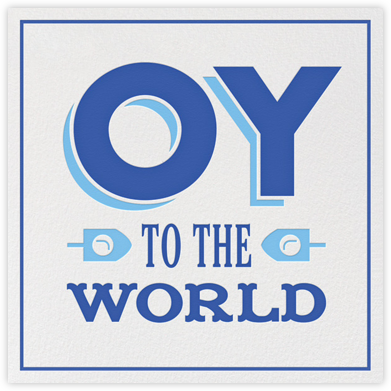 Oy Ve - White - Jonathan Adler - Hanukkah Cards
