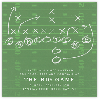 Game Plan - Paperless Post - Sporting Event Invitations