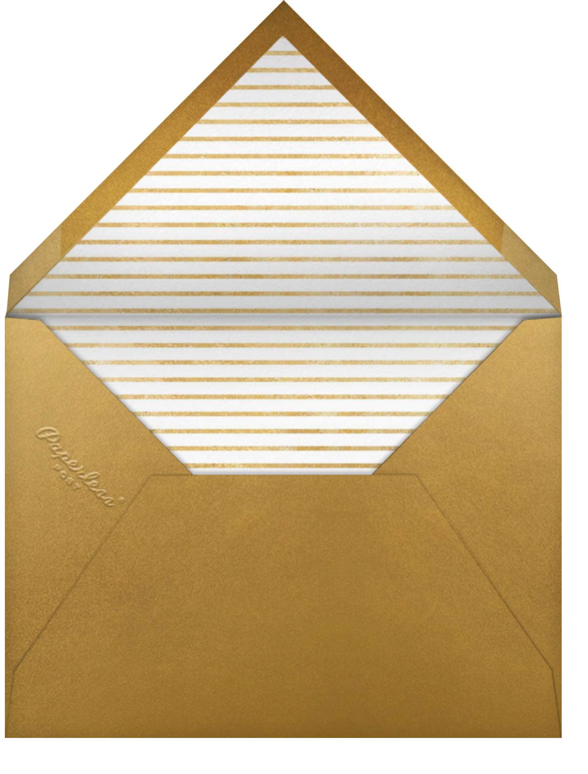 Snapshot Gold - Tall - Paperless Post - Cocktail party - envelope back