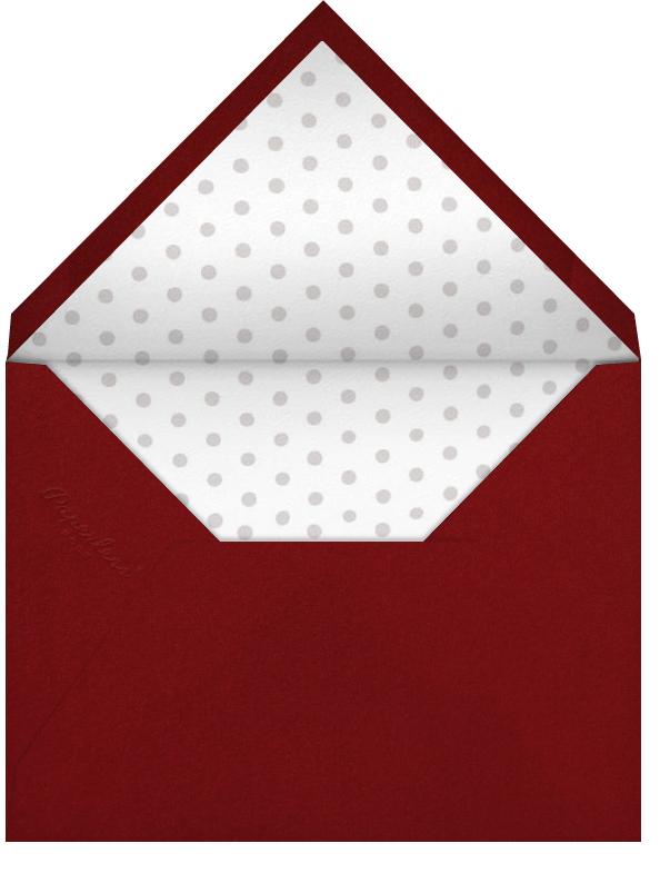 Croc Border - Crimson - Paperless Post - Valentine's Day - envelope back