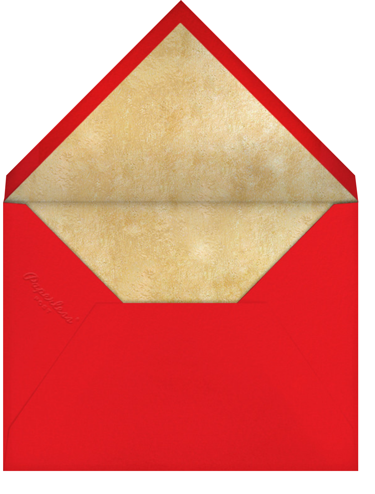 Fine China - Paperless Post - Christmas party - envelope back