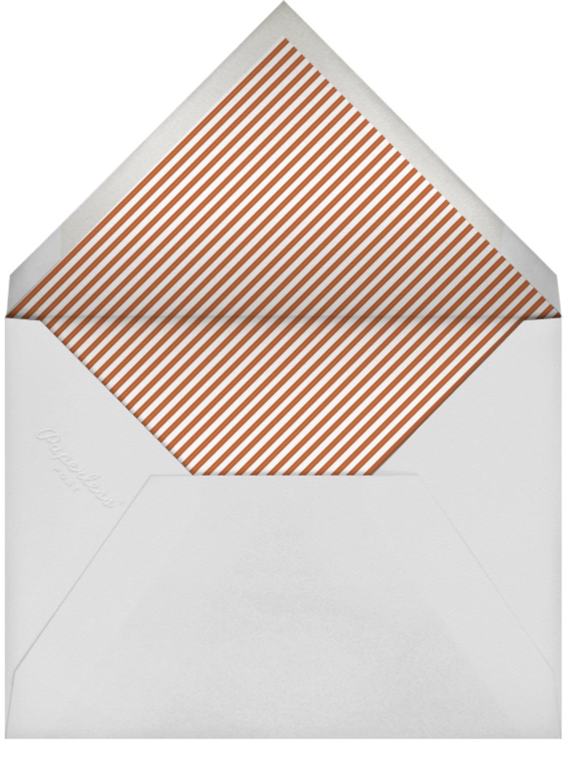Stripe Border - Burnt Caramel - Paperless Post - Cocktail party - envelope back