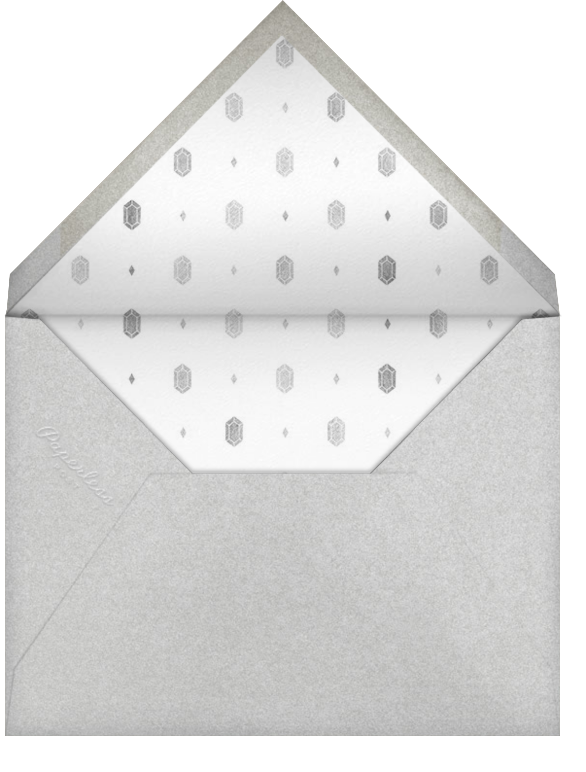 Snapshot Silver (Double Sided) - Square - Paperless Post - Adult birthday - envelope back