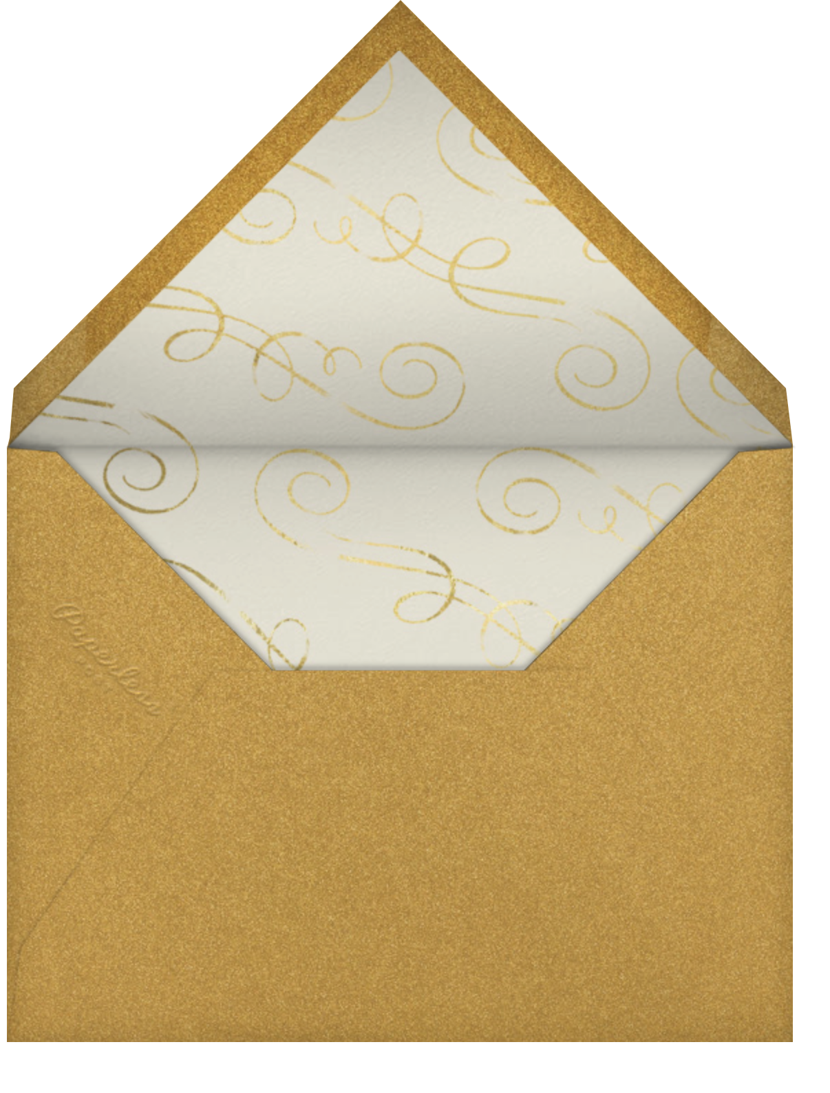 Snapshot Gold - Square - Paperless Post - Adult birthday - envelope back