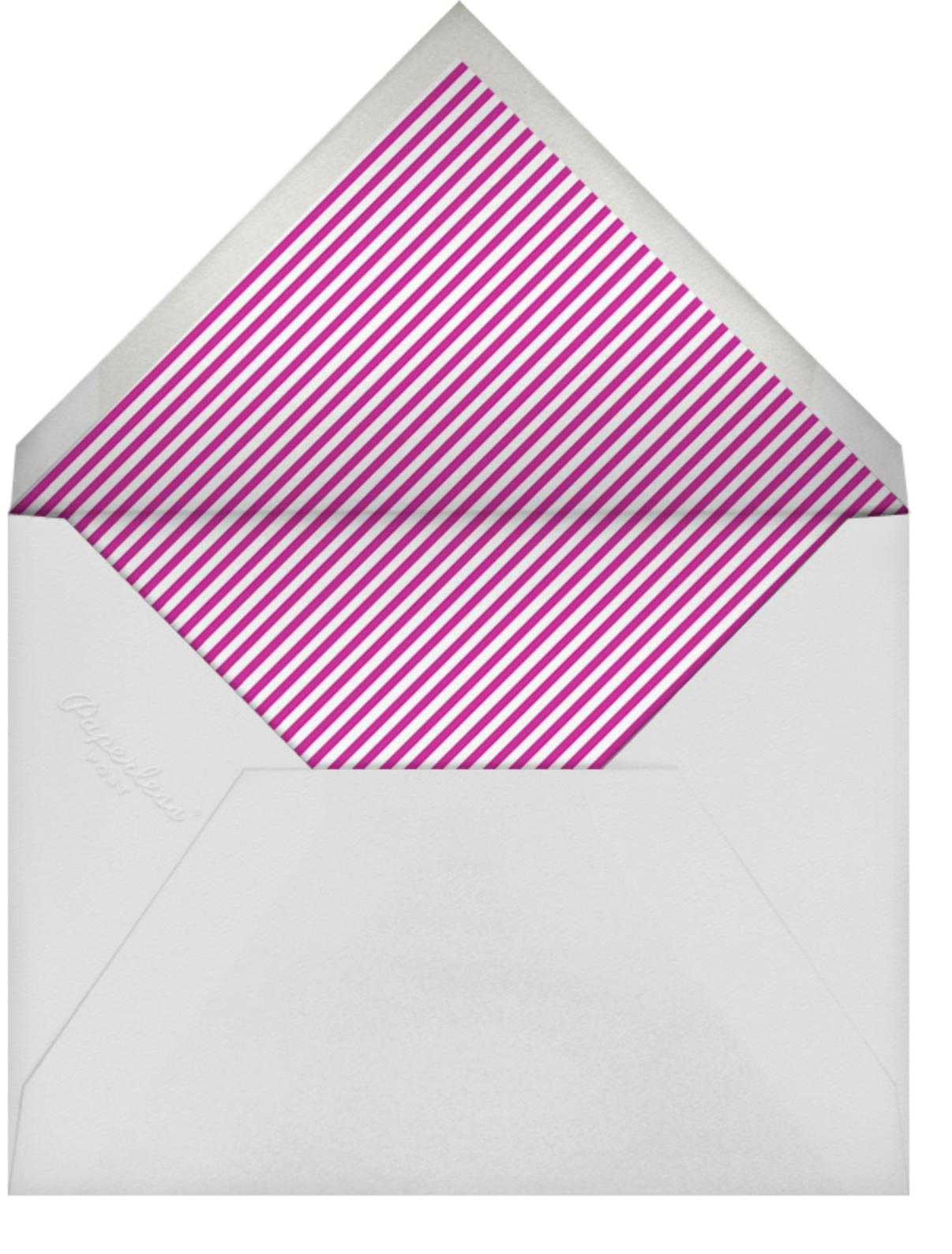 Stripe Border - Magenta - Paperless Post - Cocktail party - envelope back