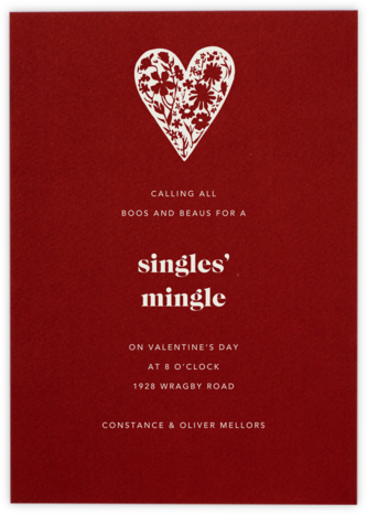 Cardinal (Valentines) - Paperless Post - Valentine's Day invitations