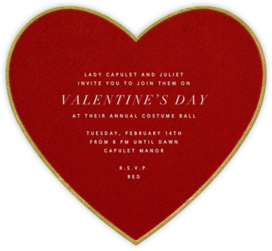 Classic Heart - Paperless Post - Invitations
