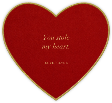 Classic Heart - Red - Paperless Post - Valentine's Day Cards