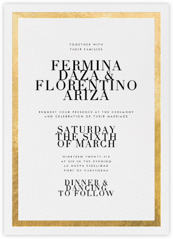 Editorial II - White/Gold - Paperless Post - Wedding invitations