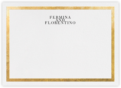 Editorial II (Stationery) - White/Gold - Paperless Post - Personalized Stationery