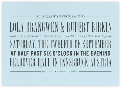 Assemblage II - Glacier - Paperless Post - Wedding Invitations