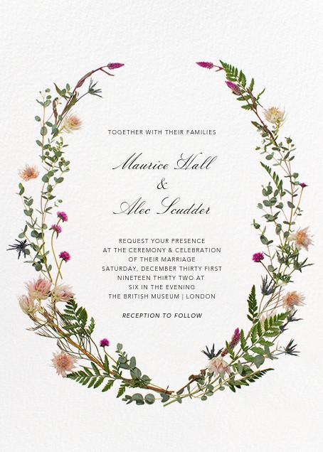 Fleurs Sauvages (Tall) - Paperless Post - Wedding invitations