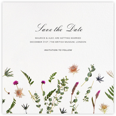 Fleurs Sauvages (Save the Date) - Paperless Post - Save the dates
