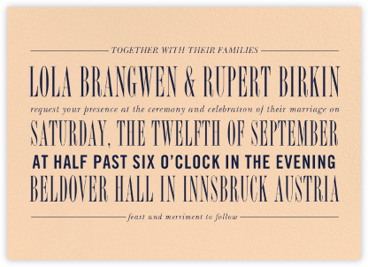 Assemblage II - Bellini - Paperless Post - Wedding Invitations