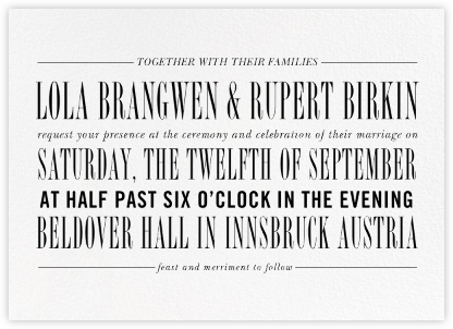 Assemblage II - Ivory - Paperless Post - Wedding Invitations