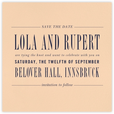 Assemblage II (Save the Date) - Bellini - Paperless Post - Save the dates