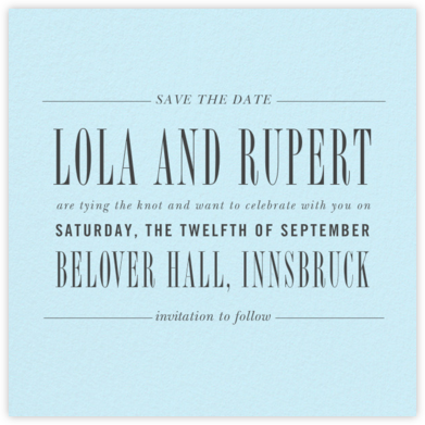 Assemblage II (Save the Date) - Glacier - Paperless Post - Modern save the dates