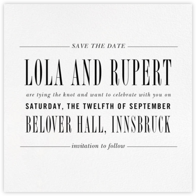 Assemblage II (Save the Date) - Ivory - Paperless Post - Modern save the dates