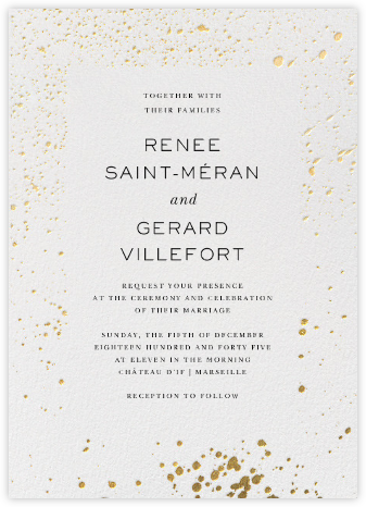 Splatter Cloth II - Gold - Paperless Post - Wedding Invitations