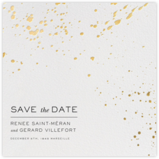 Splatter Cloth II (Save the Date) - Gold