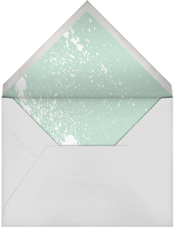 Splatter Cloth II (Save the Date) - Mint - Paperless Post - Envelope