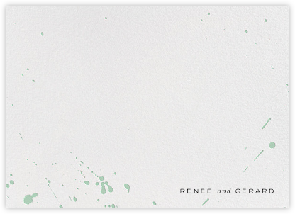 Splatter Cloth II (Stationery) - Mint - Paperless Post - Personalized stationery