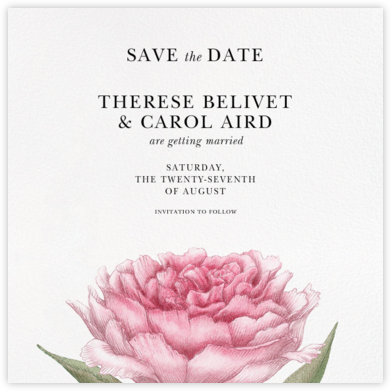 Pivoine (Save the Date) - Paperless Post - Save the dates