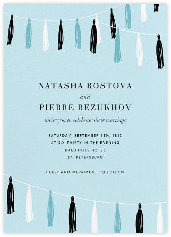 Tasseled II - Blue - Paperless Post - Wedding Invitations