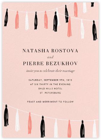 Tasseled II - Blush - Paperless Post - Wedding Invitations