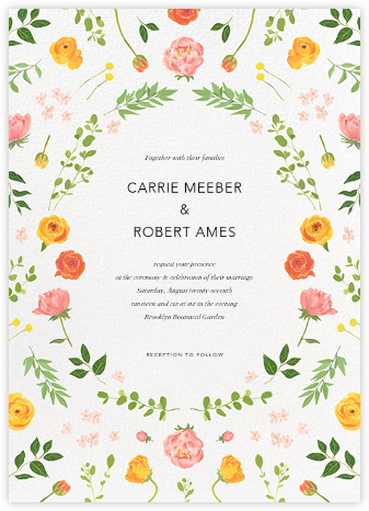Fleurs d'Eté - Paperless Post - Wedding Invitations