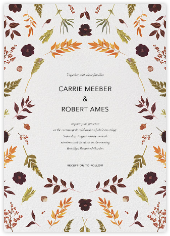 Fleurs d'Automne - Paperless Post - Wedding Invitations