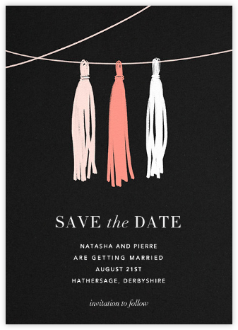Tasseled II (Save the Date) - Blush | null