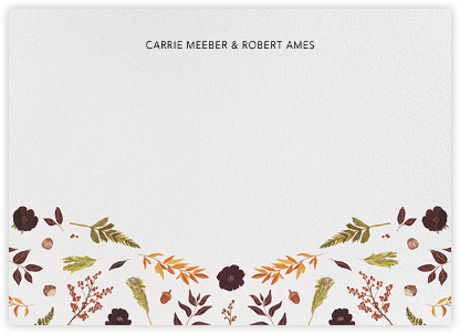 Fleurs d'Automne (Stationery) - Paperless Post - Personalized Stationery