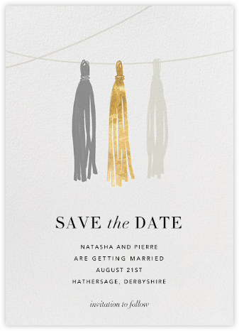 Tasseled II (Save the Date) - Gold Grey | null