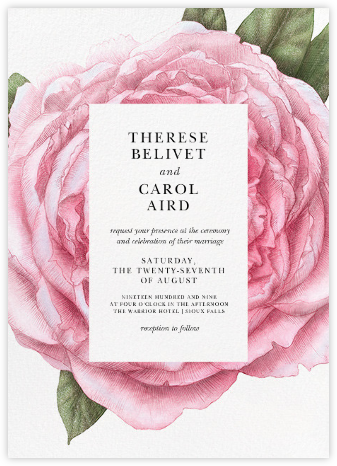 Pivoine - Paperless Post - Wedding invitations