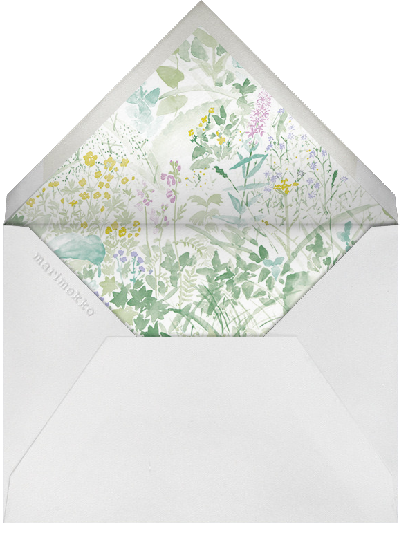Kesanato (Stationery) - Marimekko - Personalized stationery - envelope back