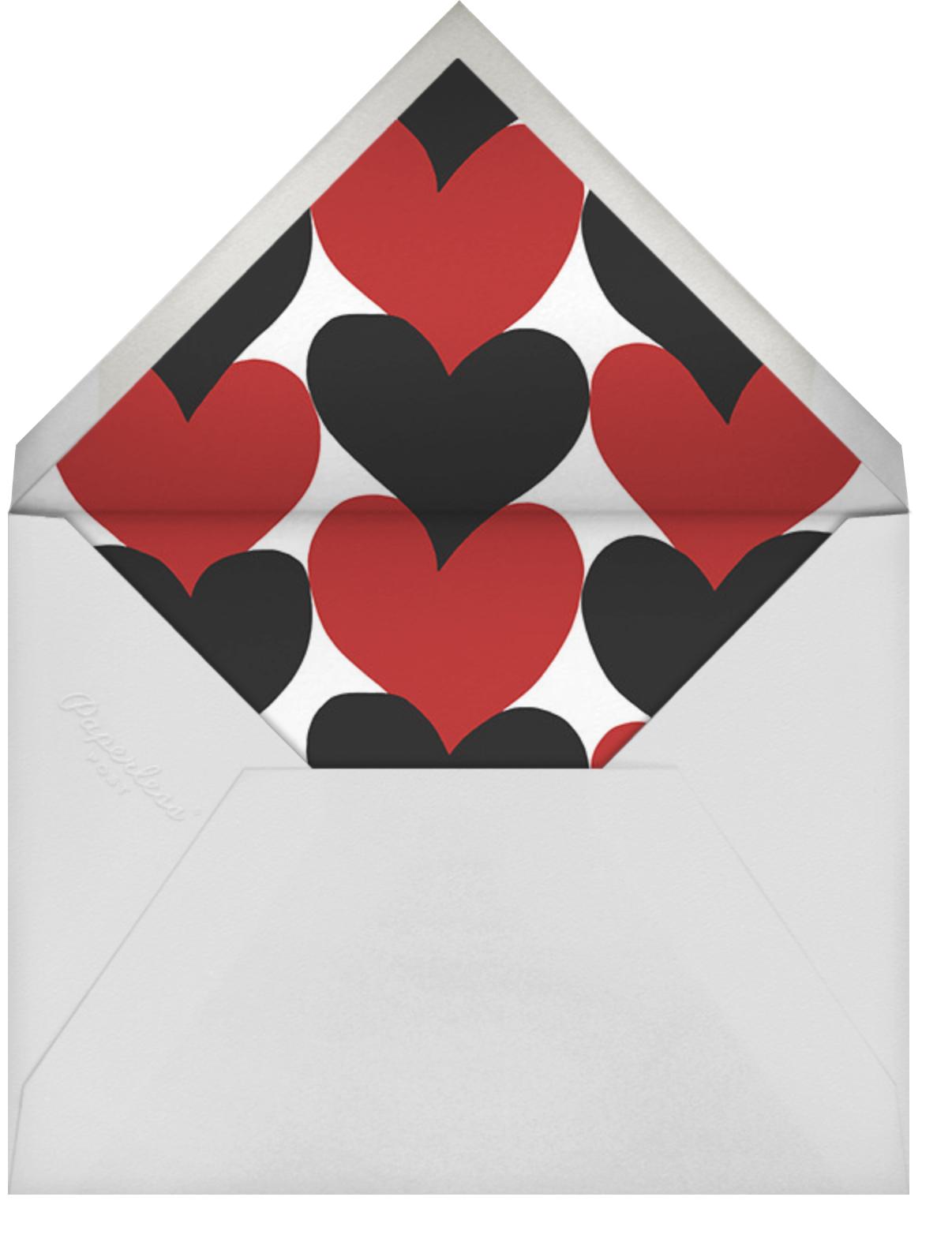Siamilaissydamet - Marimekko - Valentine's Day - envelope back