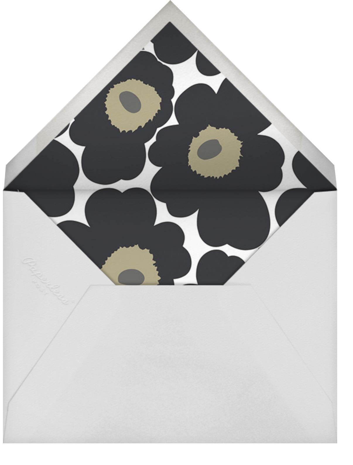 Unikko (Horizontal) - Black - Marimekko - General entertaining - envelope back