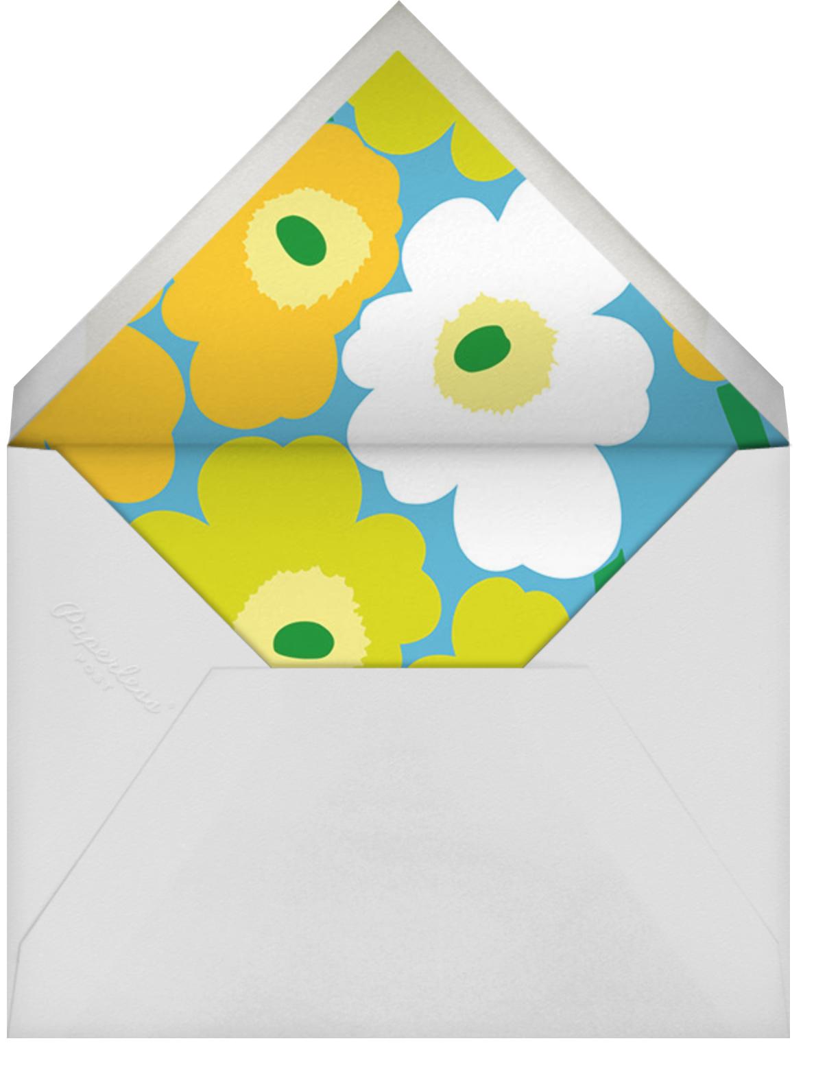 Unikko (Square) - Robins Egg Blue - Marimekko - General entertaining - envelope back