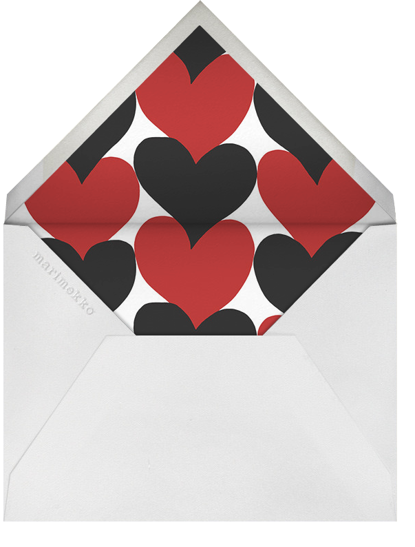Siamilaissydamet - Marimekko - Anniversary party - envelope back