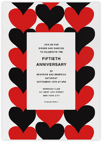 Siamilaissydamet - Marimekko - Anniversary party invitations