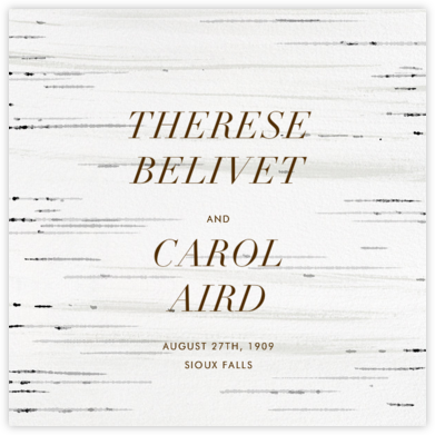 Birch Bark (Save The Date) | null