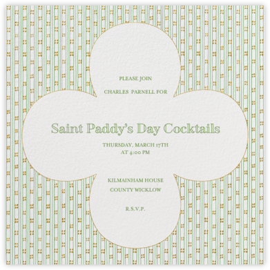 Striped Clover - Paperless Post - Online Party Invitations