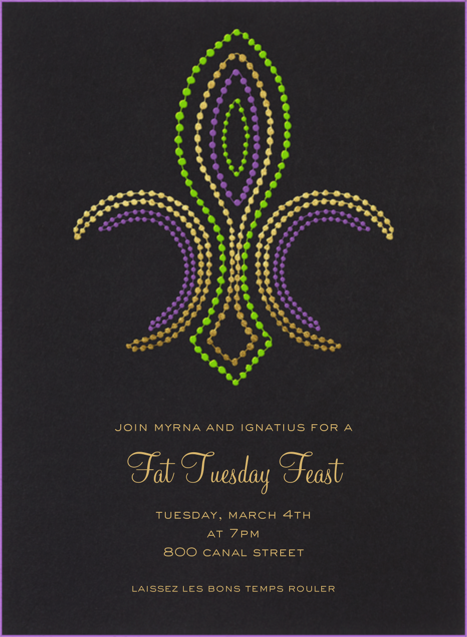 Mardi Gras invitations online at Paperless Post