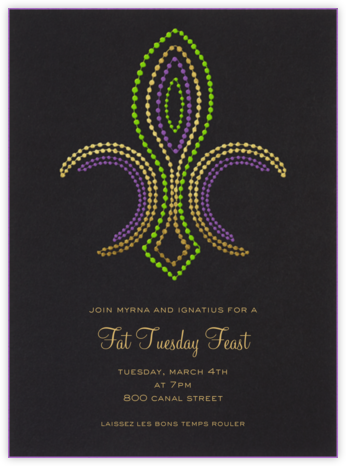 Beaded Fleur de Lis - Paperless Post - Parties