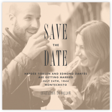 Quai II (Save the Date) - Bellini - Paperless Post - Modern save the dates