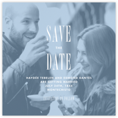 Quai II (Save the Date) - Spring Rain - Paperless Post - Save the dates